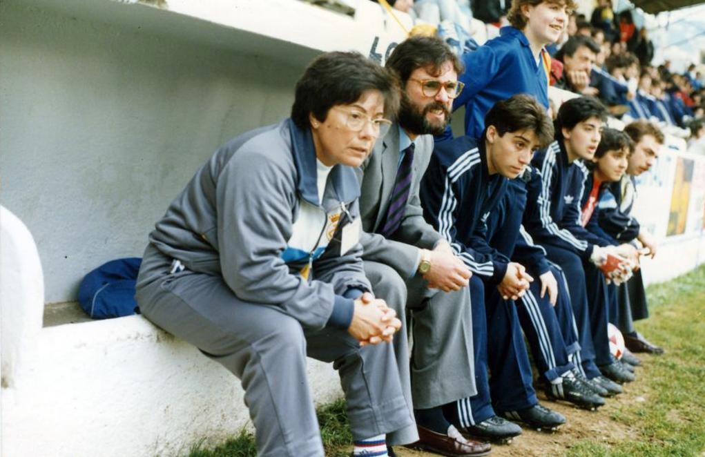 Un dels moments de la final a Lloret de 1988, amb Núria Llansà i Juan Antonio Orenes en primer pla / FOTO: Arxiu Juan Antonio Orenes