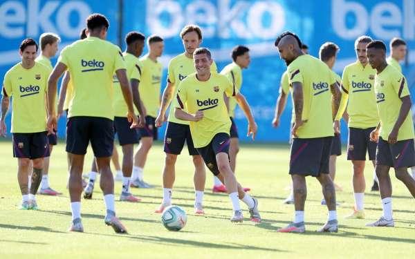 El FC Barcelona, preparat per jugar a Son Moix contra el RCD Mallorca. FOTO: FC Barcelona