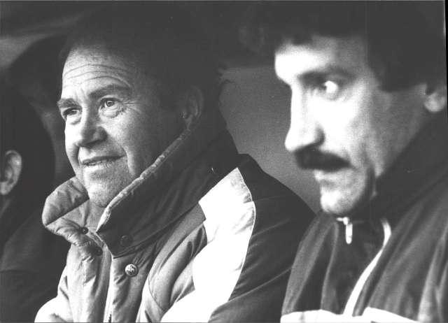 Antonio Lagunas, com a entrenador del FC Andorra, el 1985 / FOTO: Diari de Girona
