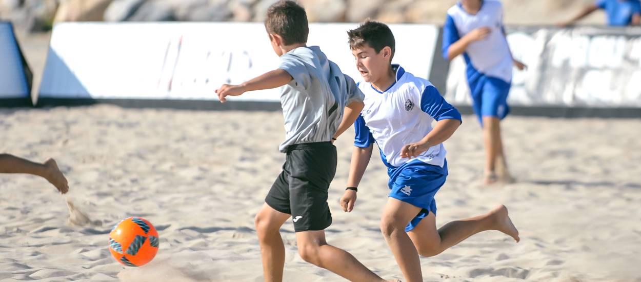 Els Infantils s'exhibeixen en el Campionat de Catalunya de Futbol Platja
