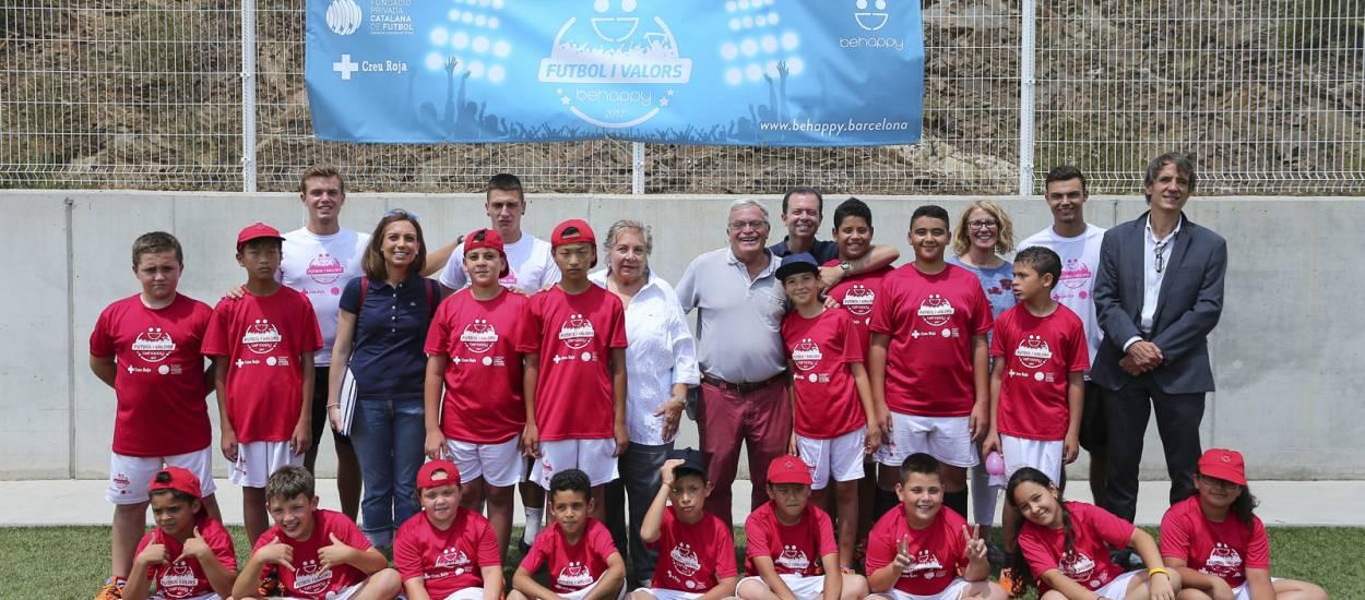 El president de la Fundació FCF visita el Campus Solidari de Futbol Behappy