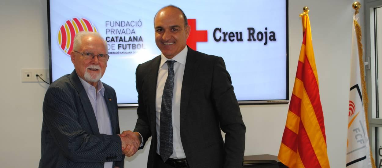 La Fundació de la FCF i la Creu Roja, juntes per afavorir la integració d'infants en risc a través del futbol