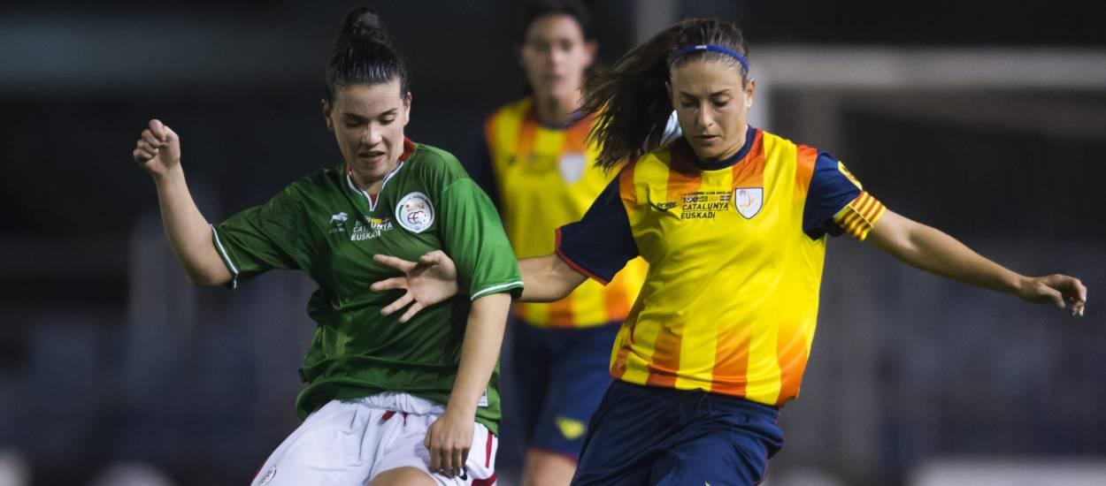 Euskadi guanya a la festa del futbol femení