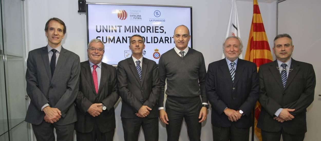 La FCF i el RCD Espanyol, units pels col·lectius vulnerables i per les persones amb risc d'exclusió social