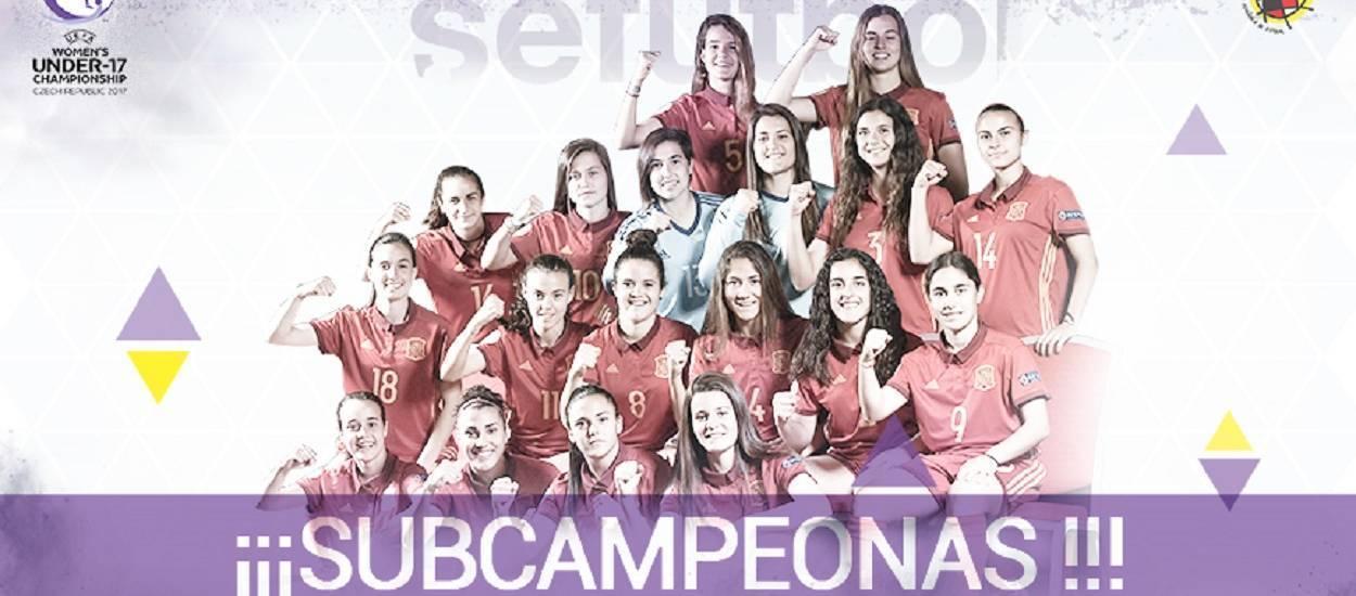La Selecció Espanyola sub 17 femenina, subcampiona d'Europa