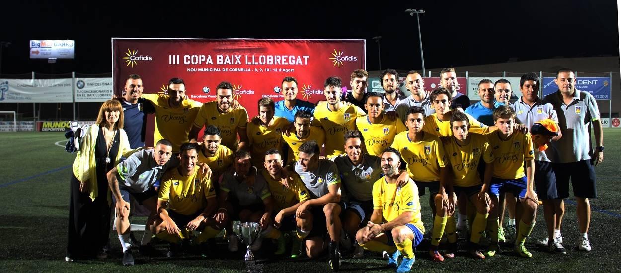 La UE Castelldefels, campiona de la 3a Copa Baix Llobregat