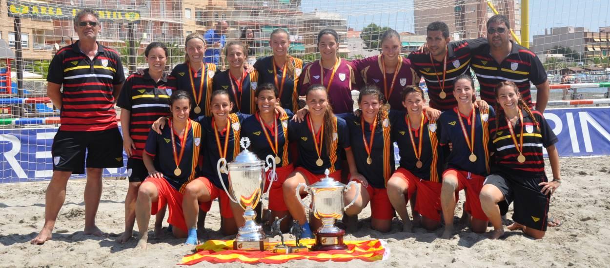 Catalunya aixeca el trofeu de campiones d'Espanya