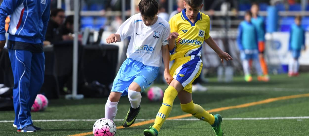 Partido igualado y disputado entre la Selección de Galicia y la Selección de Canarias
