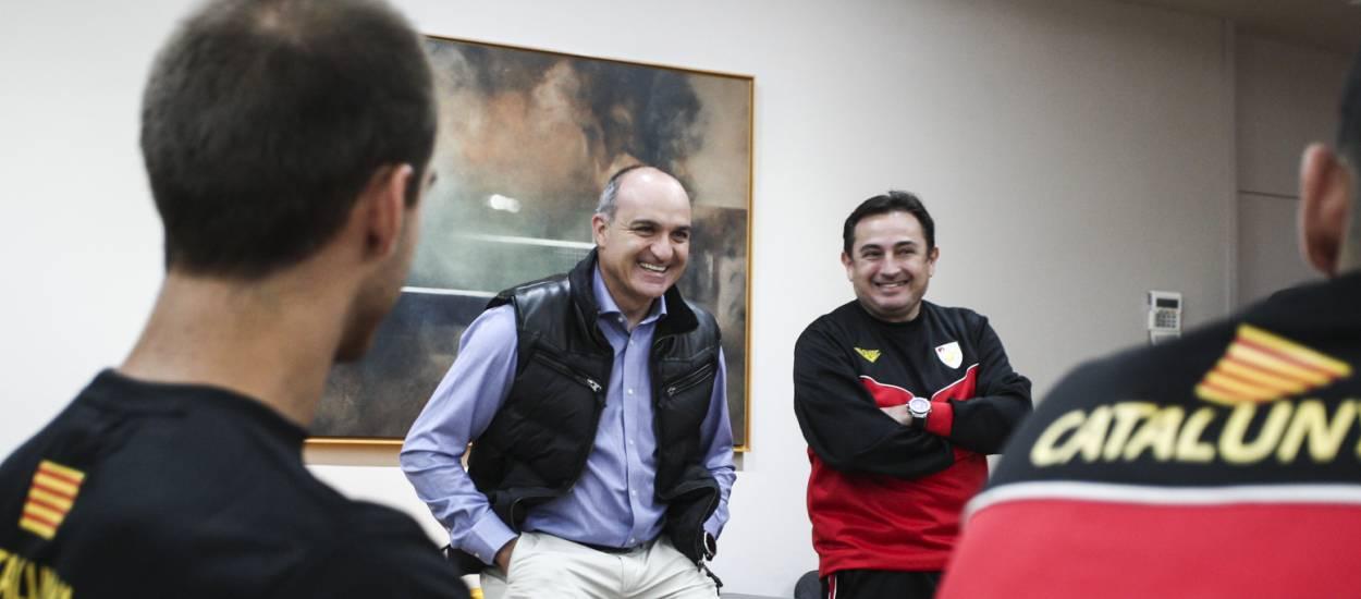 Andreu Subies visita la Selecció Catalana Amateur