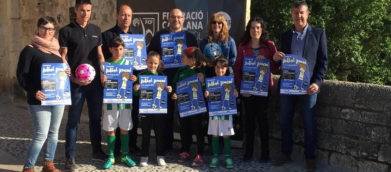 Besalú, escenari de la presentació de la Jornada de Futbol Femení de Girona