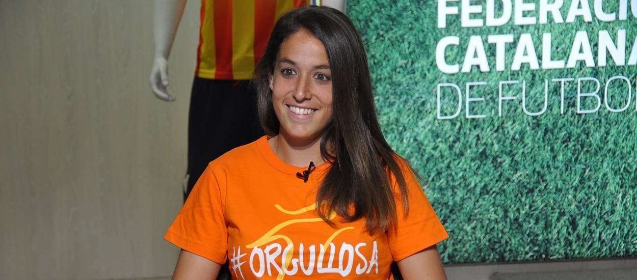 """Olga García: """"Cada vegada hi ha més noies que volen jugar a futbol"""""""